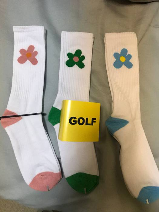 Golf Wang Golf Le Fleur Flower 3 Sock Pack Size One Size Socks