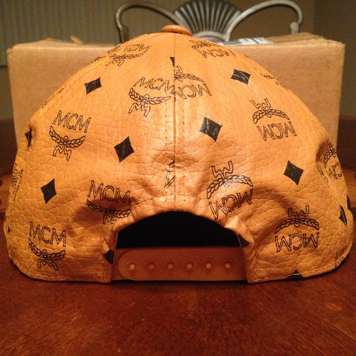 MCM Vintage Cognac Snapback Hat Size one size - Hats for Sale - Grailed b05ad2cbeab5