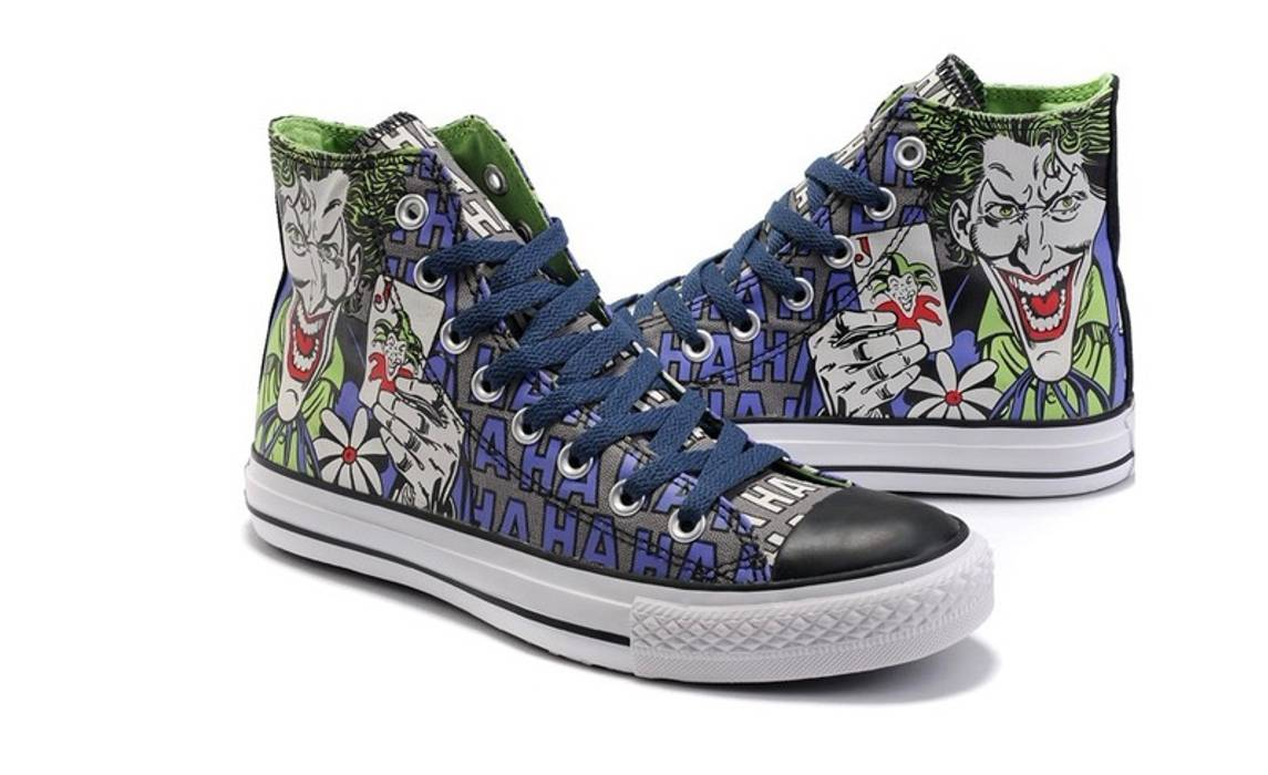 0e2ac82df17 Converse Haha Joker Batman Chuck Taylor All Star High Top Size US 12   EU 45