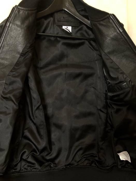 b83926a6e4e0 Nike Nike Black Leather Black Wool Jacket Size s - Bombers for Sale ...