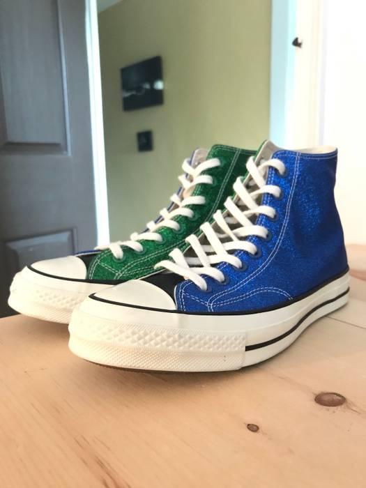 4dabe461fe7 Converse Converse J.W. Anderson Glitter Chuck Taylor 70 Black Blue Green Cream  Size