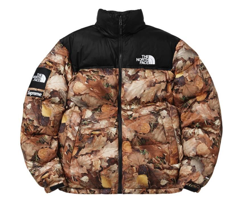 Supreme Nuptse Jacket Leaves Supreme TNF Size m - Heavy Coats for ... bf7c64451