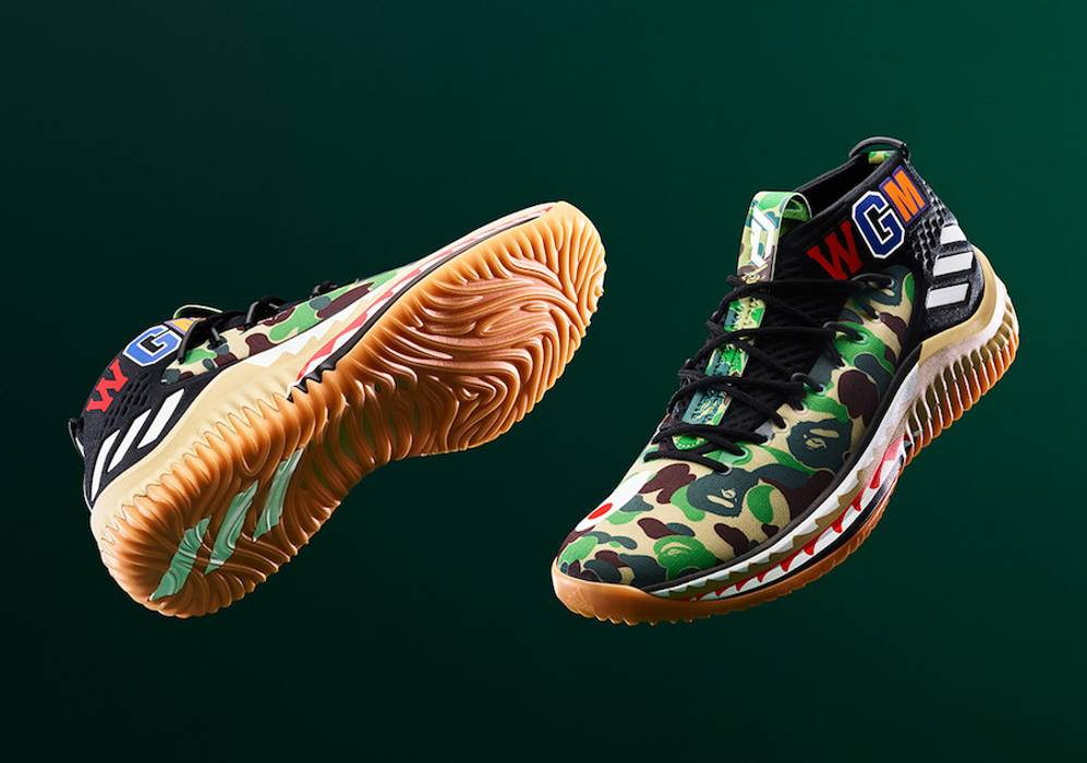 28f749866cf280 Adidas Bape Dame 4 DS Size 10 - Low-Top Sneakers for Sale - Grailed