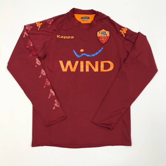 Kappa Kappa Wind Rome Italy Soccer Jersey Double Sided Size m ... 24e2d62dc