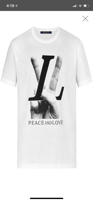 Louis Vuitton Hand Lv Large Motif Peace And Love T Shirt Size Xs