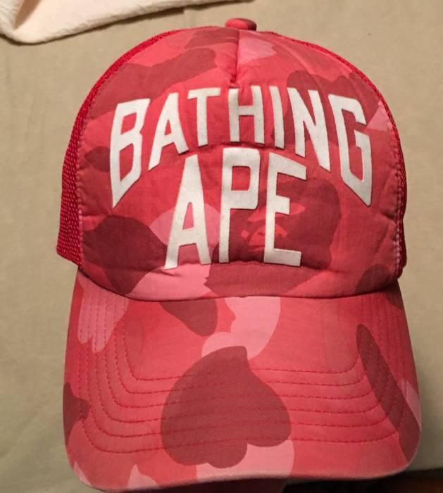 ee43f160734 Bape OG Bape Red Camo Trucker Hat Size one size - Hats for Sale ...
