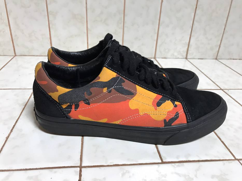 Supreme Supreme X Vans Orange Camo Old Skool Sneakers Shoes Size 9.5 Size  US 9.5   b422784f5