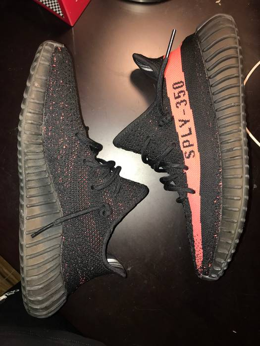 301d81631fa Adidas YZY Boost 350 V2 - Red Stripe 8 10 no box Size 10 - Low-Top ...