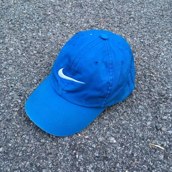 fb6a8400cde sweden nike nike swoosh trucker cap vintage 90s nike sportswear blue cap  12da6 a9a07