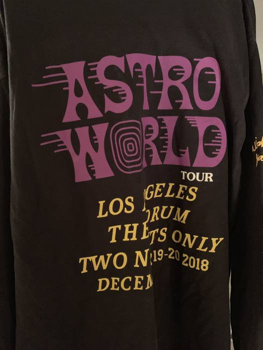 e548b0528 Travis Scott. Travis Scott ASTROWORLD Wish You Were Here Tour Merch LA  Forum Exclusive ...