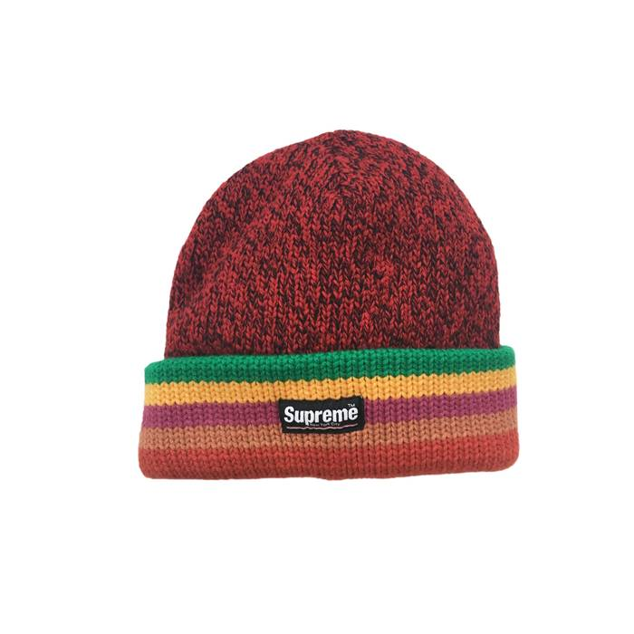 Supreme FW16 Striped Heavy Knit Wool Beanie Size one size - Hats for ... fc6b02c2915