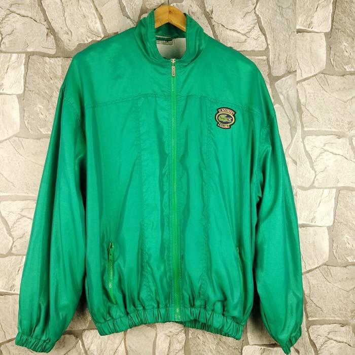 240fea777cb605 Lacoste. Vintage 90s Izod Lacoste Green Windbreaker Hoodie Jacket ...