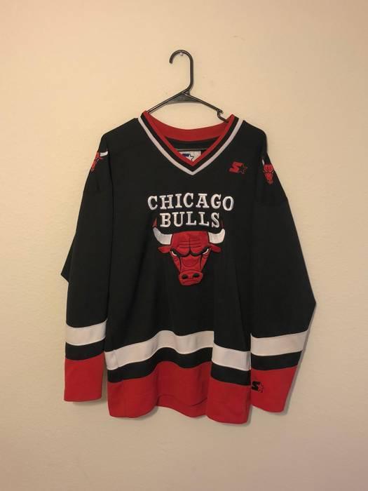 Starter Chicago Bulls Hockey Jersey Size m - Jerseys for Sale - Grailed b7eb8d16f3c