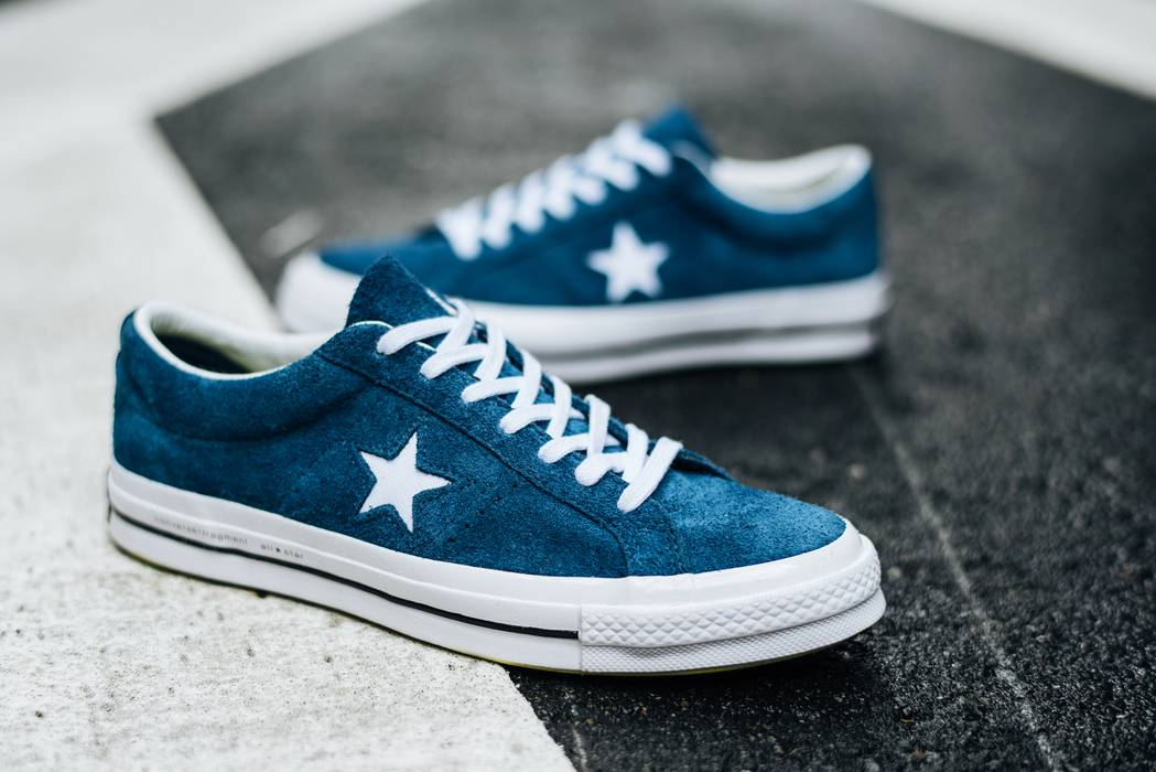 Converse Suede Navy Converse x Fragment One Stars Size 9 - Low-Top ... f0ccc1ae0