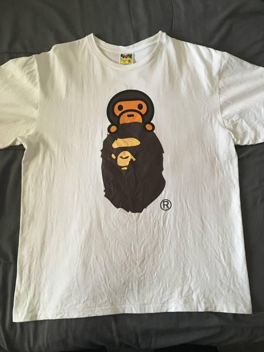 21e9291a33a8 Bape A Bathing Ape Big Ape Head Baby Milo tee Size xxl - Short ...