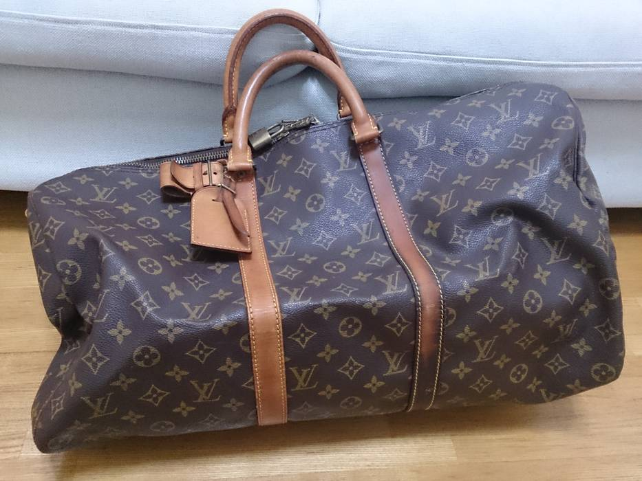 Louis Vuitton keepall 50 authentic used bag travelling duffer lv ... 49b437d4a281