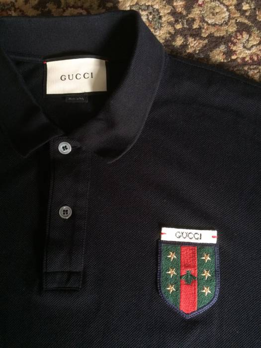 ea2806f5aa0861 Gucci Black Bee Emblem Polo Tee Size l - Polos for Sale - Grailed