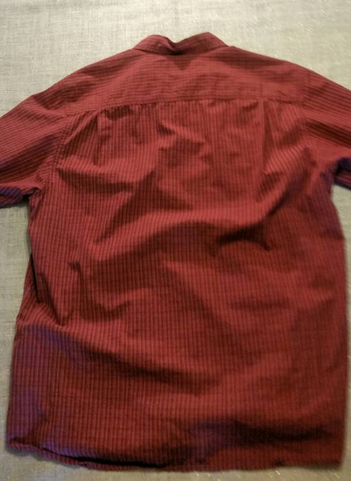 25a34dd8a7 Columbia Men s Columbia Dress Button Up Short Sleeve Shirt Large Red Pin  Stripe Boxes Size US