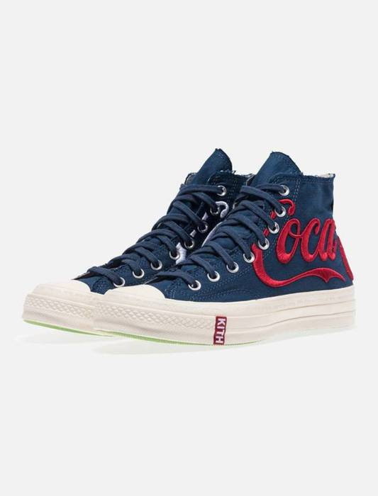 c9a87cf42af Kith Nyc Converse Chuck Taylor All-Star 70s Hi Kith x Coca Cola Navy Size