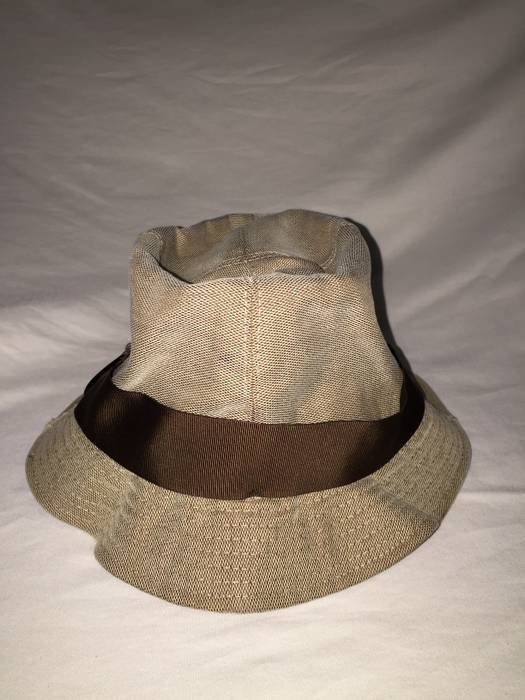 Gucci GUCCI LARGE BUCKET HAT Vintage RARE Canvas   Nylon  Leather Tan Cream  Beige   daf270fccb8