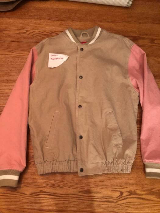 Supreme Denim Varsity Jacket Size M Denim Jackets For Sale Grailed