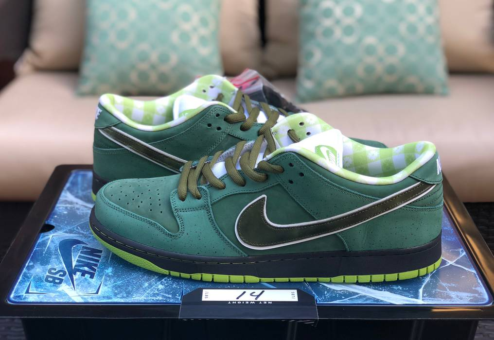 ec1f94e355e1 50% off nike nike sb dunk low concepts green lobster special box size 14  size