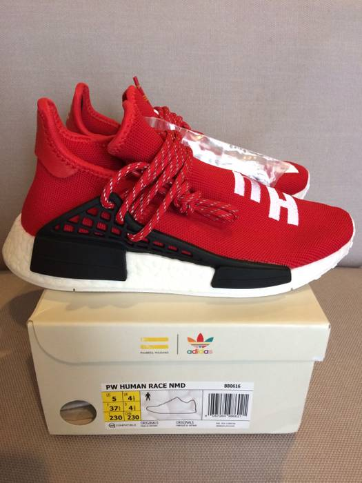 Adidas NMD HUMAN RACE RED SCARLET BB0616 SIZE US5 UK4.5 JP23.0 Size ... 08616b1bb