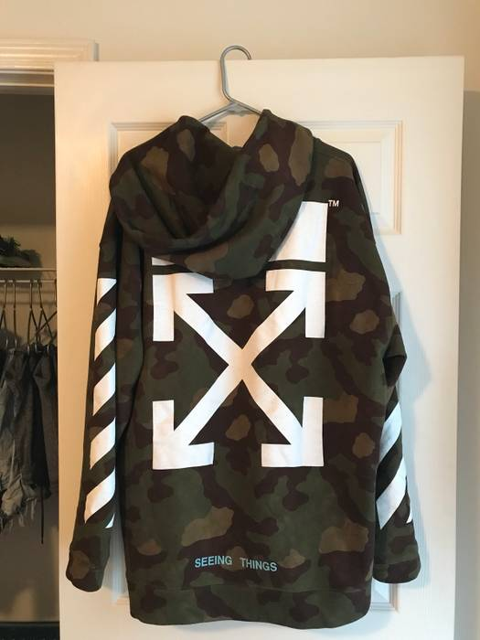 Off White Off White Camo Hoodie Size M Sweatshirts Hoodies For