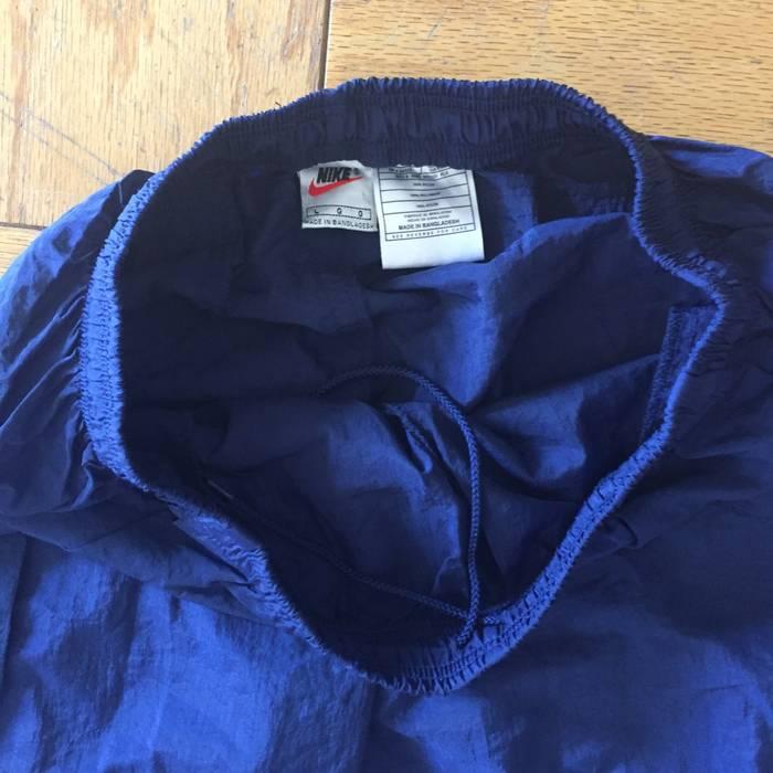 59790ef2df02 Nike Vintage 90s Nike Navy Blue Windbreaker Track Pants Tapered ...