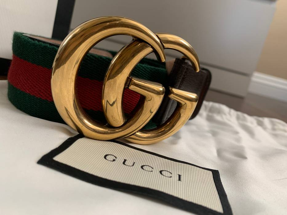 cda12bf18f0 Gucci WOMENS - Web belt with Double G buckle Size 28 - Belts for ...