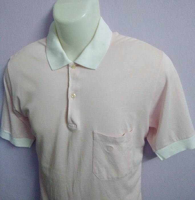 2278d9cee2b398 Alfred Dunhill 80 s Dunhill Polo Shirt Made in Italy Light Pink Shirt  Luxury Vintage Size US