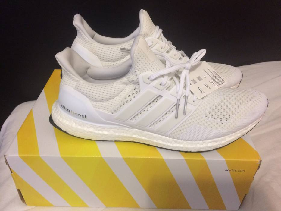 c36b544ad5a92 ... promo code for adidas ultra boost 1.0 triple white size us 12.5 eu 45  46 9a963
