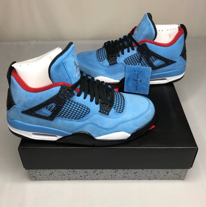 2af87566b0714e Nike AIR JORDAN RETRO 4 IV CACTUS JACK TRAVIS SCOTT Size US 11.5   EU 44