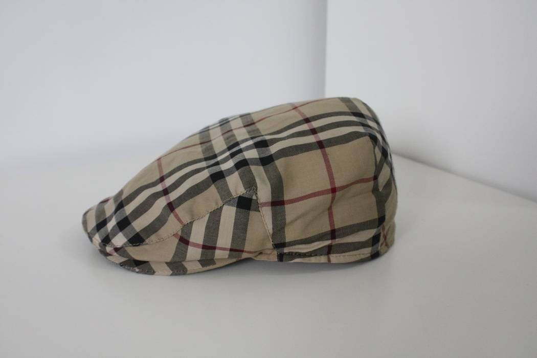 Burberry. Authentic BURBERRY Men s Classic Nova Check Newsboy Hat Cap Made  In England. Size  ONE SIZE 25ad637372b7