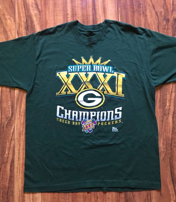 Vintage Vintage 1997 Super Bowl Green Bay Packers T-shirt Size US XL   EU a3cdead89