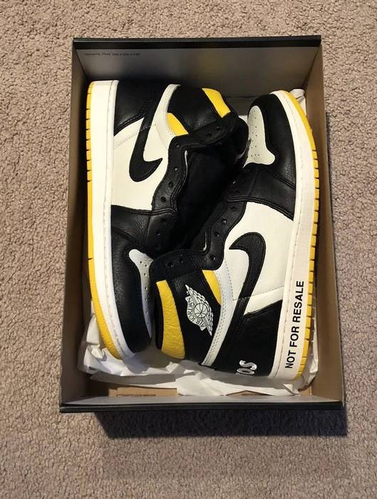 bdef579ec27 Nike Air Jordan 1 Retro High Not For Resale Varsity Maize Yellow ...