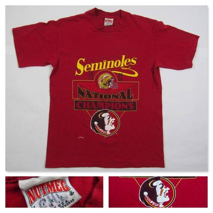 428ce30cf42 Vintage Vintage 1993 Florida State University Seminoles National Champions  T Shirt Spell Out FSU Football T