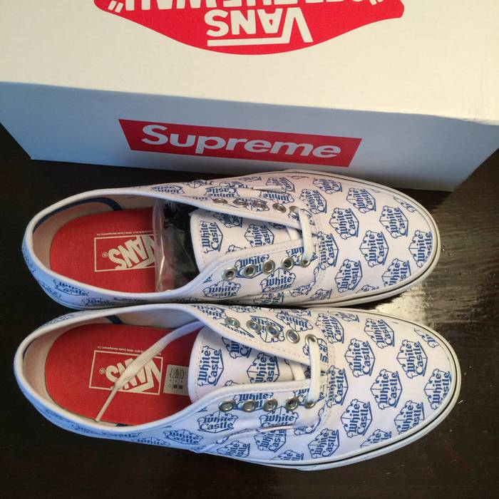be51a5d2cdc Supreme White Castle Vans Size 9.5 - Hi-Top Sneakers for Sale - Grailed