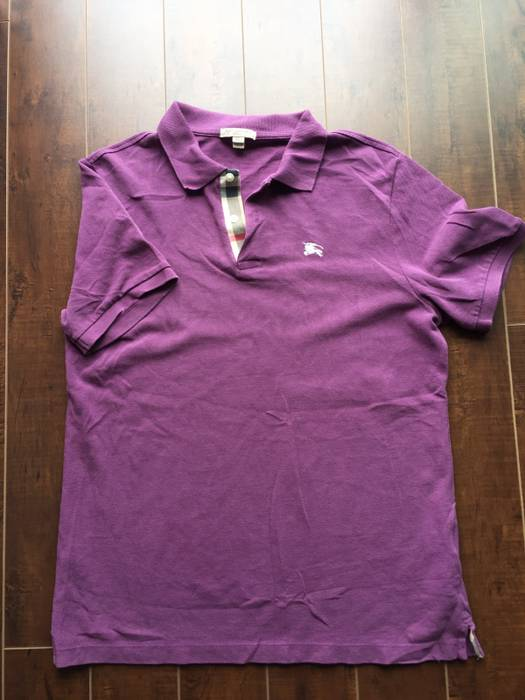 edc4d5d2614 Burberry Mauve Burberry Brit Polo Size l - Short Sleeve T-Shirts for ...