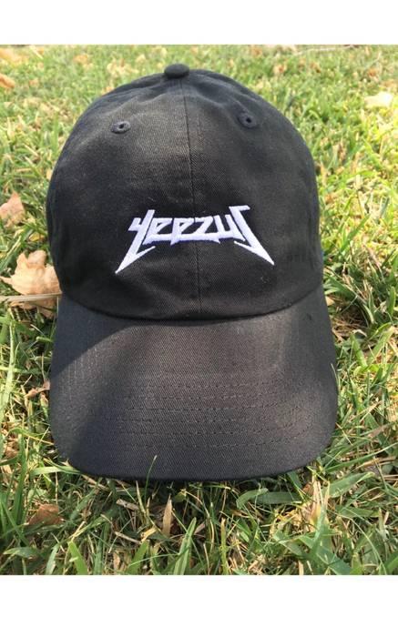 Kanye West Kanye West Yeezus Hat Strapback Black White Stiching Size ... 219788c7f9e