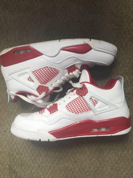 b4950872e89ff0 Jordan Brand Jordan 4 Retro Alternate 89 Black   Gym Red   White ...
