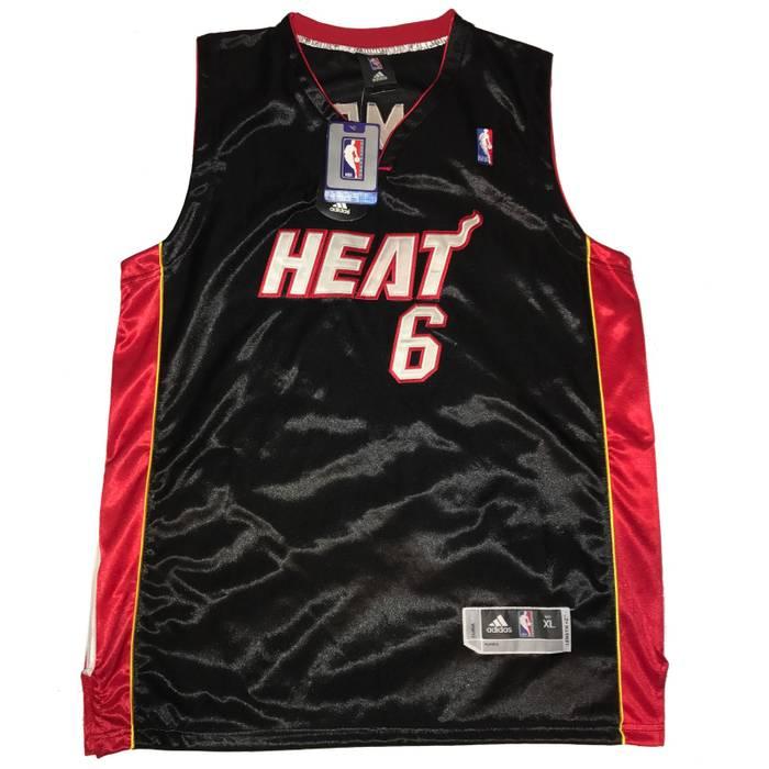 Adidas Lebron James Miami Heat Throwback NBA Authentic Black Away ... 0311580914cd