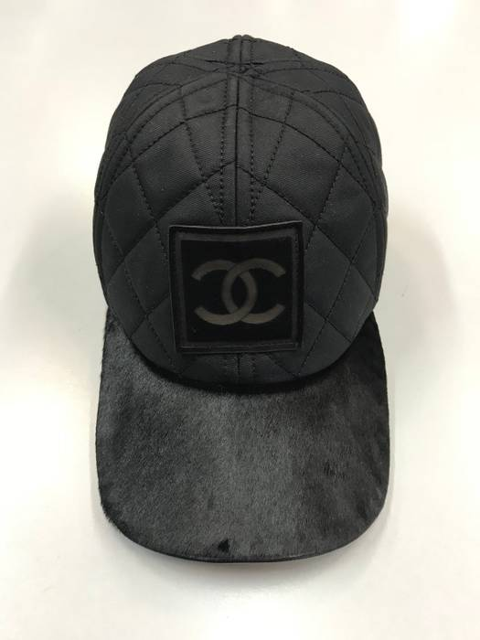 Chanel Quilted Pony Hair Cap sz L Size 34 - Hats for Sale - Grailed 56552284db9