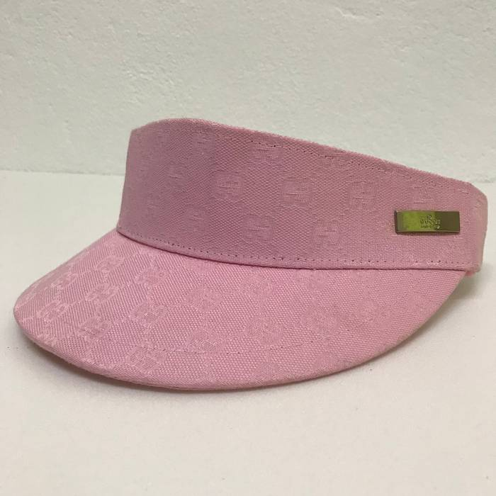 Gucci 🔥NEED GONE TODAY🔥Gucci Visor Hat Pink Monogram (PLEASE REFER ... 01d5cd0cdb1