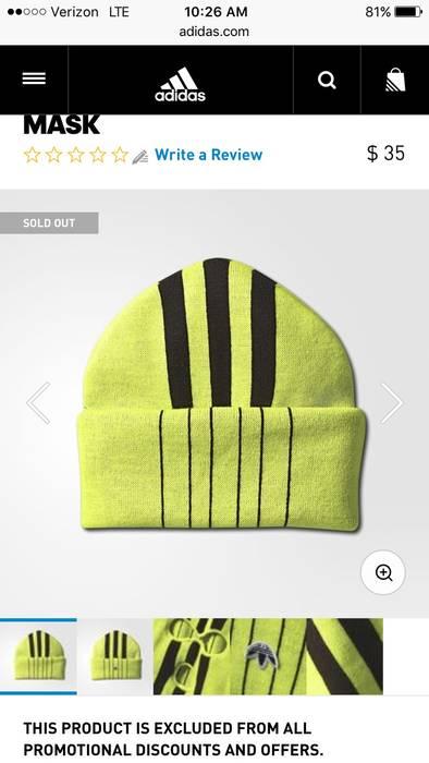 Adidas ADIDAS ORIGINALS BY AW SKI MASK (YELLOW) Size one size - Hats ... 5c0ba9bf84f