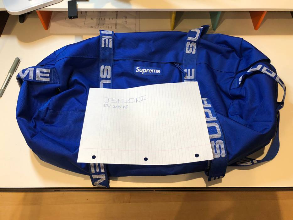 Supreme Supreme Duffle (SS18) Royal Size one size - Bags   Luggage ... 34e03ef0105bc