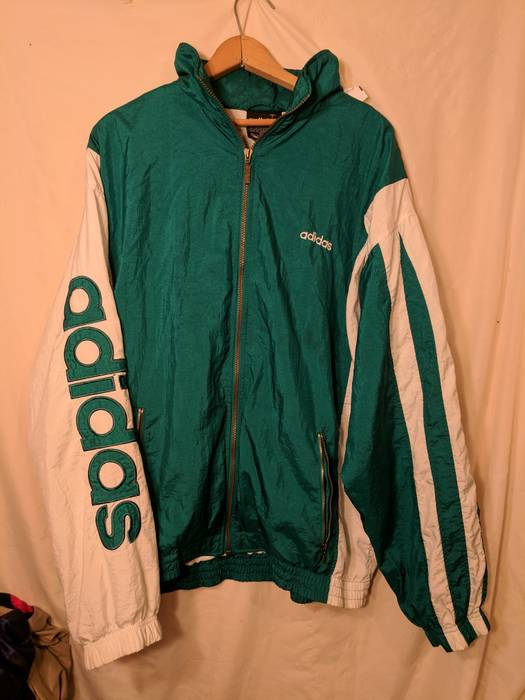 180056f82a2e Adidas Vintage 90s Adidas Windbreaker Track Top Spellout Size US XL   EU 56    4