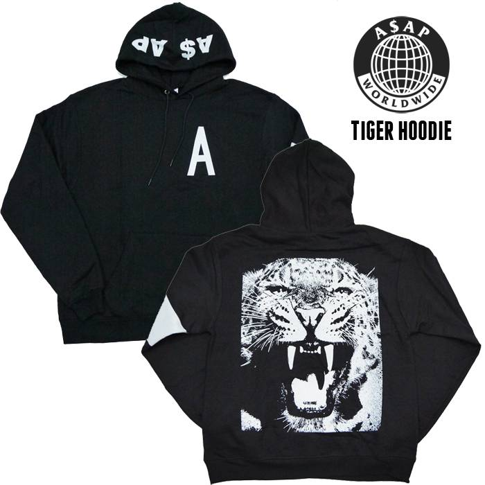 Asap Rocky Asap Worldwide Tiger Hoodie Made In Japan Size M