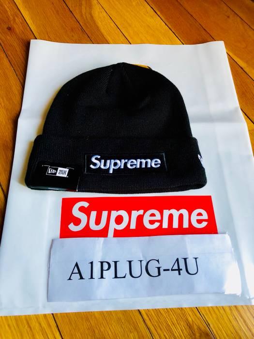 Supreme ✅ LOWEST PRICE~💯% AUTHENTIC SUPREME NEW ERA BLACK BEANIE ... eec4fc85927