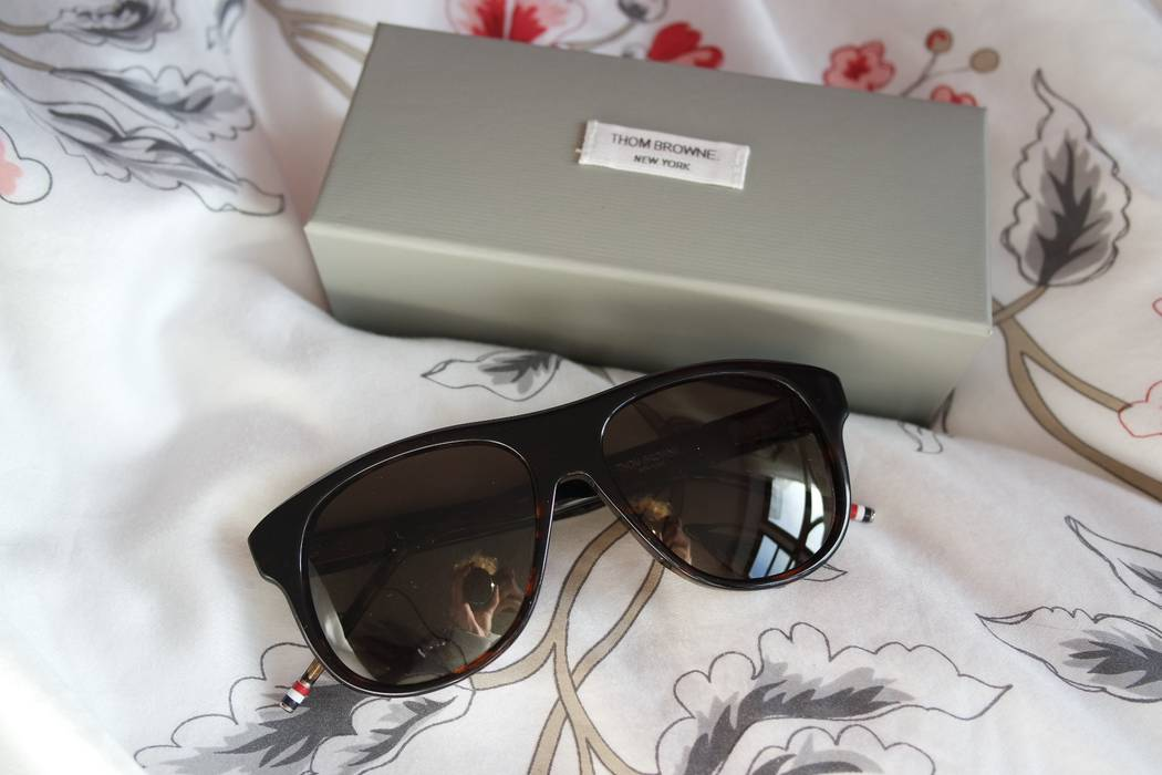01bedf8c863 Thom Browne. NEW Thom Browne 008 Tokyo Tortoise Aviator Sunglasses. Size  ONE  SIZE. 4
